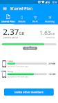 screenshot of My Data Manager - Data Usage