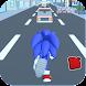 Blue Fast Runner City Hedgehog Sonik