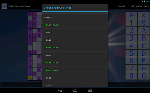 16x16 Sudoku Challenge HD 3.8.5 screenshots 12