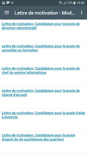 Lettre de motivation et CV Capture d'écran