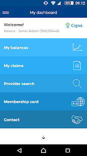 Cigna Health Benefits Screenshot