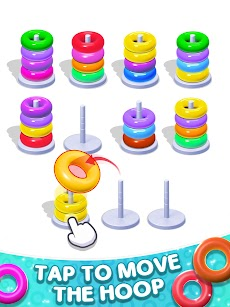Color Hoop Stack Puzzle-Sorting Gamesのおすすめ画像5