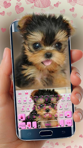 Cute Tongue Cup Puppy Keyboard Theme  screenshots 1