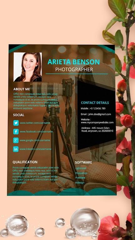 Resume Template, Resume Writer & Cover Letter  poster 4