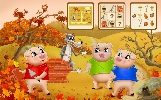 Three Little Pigs - Fairy Tale with Games apkdebit screenshots 6
