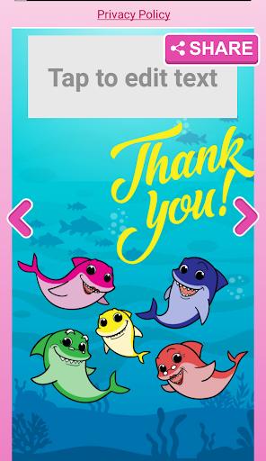 Little Shark Invitation Maker Baby Party 2.0 screenshots 6