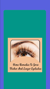 Home Remedies To Grow Thicker And Longer Eyelashes 1.0 Mod + Apk (New Version) 1