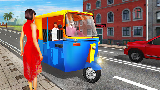 Modern tuk tuk Auto Rickshaw US driving simulator 1.1.1 screenshots 1