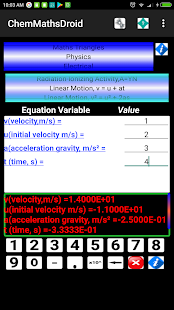 ChemMathsDroid Engineering,Chemical,Maths tools Screenshot