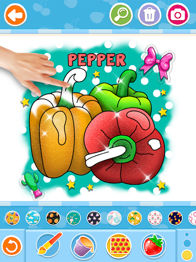 Fruits and Vegetables Coloring Game for Kids  screenshots 15