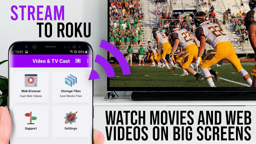 Video & TV Cast | Roku Remote & Movie Stream App android2mod screenshots 1