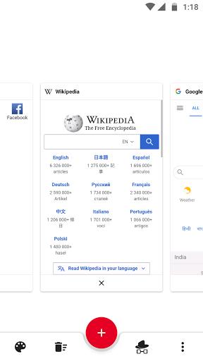GinxDroid Browser & Downloader  screenshots 1