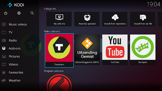 Kodi Screenshot