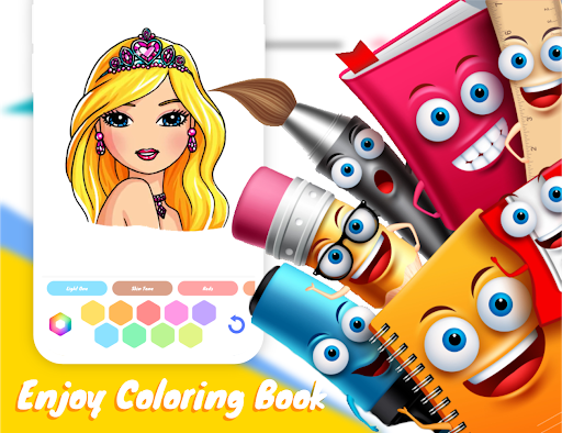 Drawely - How To Draw Cute Girls and Coloring Book modavailable screenshots 20