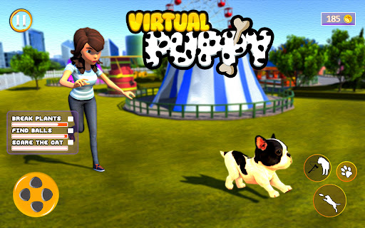 Virtual Pet Puppy 3D - Family Home Dog Care Game  screenshots 1