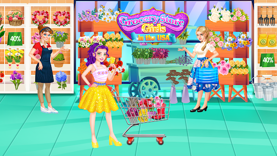 Grocery Store Girl in the USA – Shopping Games 1.3 Android Mod + APK + Data 3