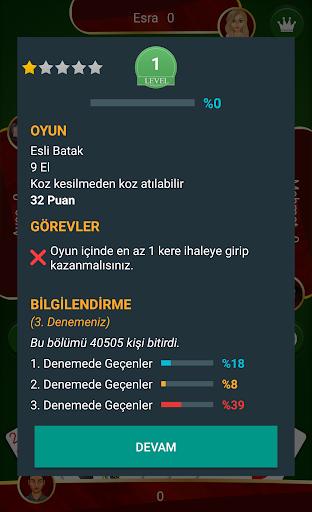 Batak - Tekli, Eu015fli u0130nternetsiz Batak 3.16.5 screenshots 4