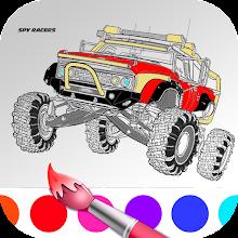 Spy racer super cars fans Coloring Book APK