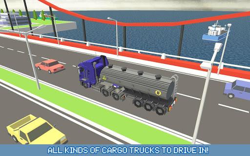 Blocky Truck Driver: Urban Transport 2.2 screenshots 9