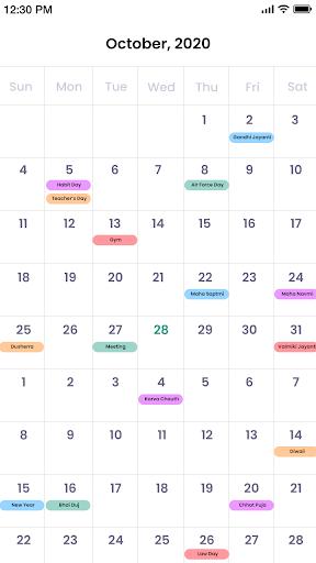 Calendar android2mod screenshots 4