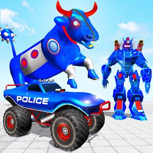 Police Bull Robot Truck Game: Robot Transform Game