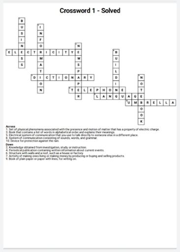 English Crossword Maker 2.0.1 screenshots 2