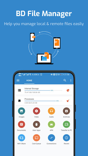 BD File Manager - File Analysis & Junk Cleaner.  screenshots 1