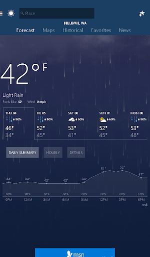 MSN Weather - Forecast & Maps 1.2.0 Screenshots 10