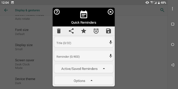 Quick Reminders - Notes In Your Notification Panel Screenshot