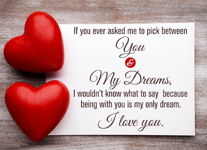 I love you quotes with romantic images