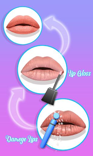 Télécharger Lèvres faites! Jeu ASMR 3D Lip Art satisfaisant mod apk screenshots 5