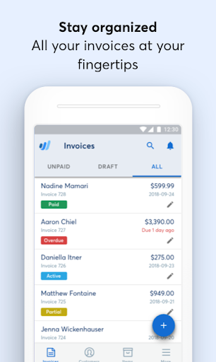 Wave Invoicing modavailable screenshots 2