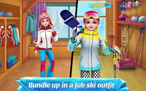 ski girl superstar - winter sports & fashion game screenshot 2