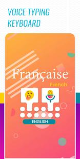 French Voice Typing keyboard - English Translator 1.4 screenshots 1