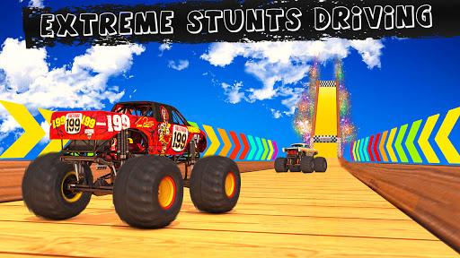 Monster Truck Stunts on Impossible Track New 2021 apktram screenshots 1