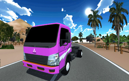 Truck Oleng Canter Simulator (Indonesia) modiapk screenshots 1