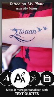 Tattoo Name On My Photo Editor Screenshot
