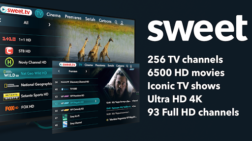 SWEET.TV - TV online for TV and TV-boxes screenshots 1