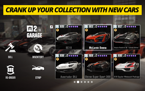 CSR Racing 2 APK (MOD, Unlocked All) for Android 4
