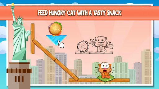 Hungry cat: physics puzzle game  screenshots 1