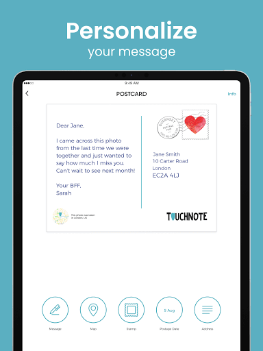 TouchNote: Card Maker - Postcards & Greeting Cards  screenshots 14