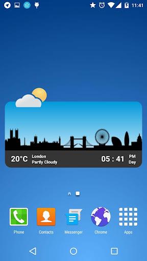 metro clock widget screenshot 3