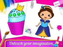 Princess Coloring Book & Drawing Book For Kids