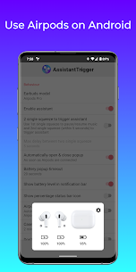 Free Assistant Trigger (Airpods battery  more) Apk Download 2021 1