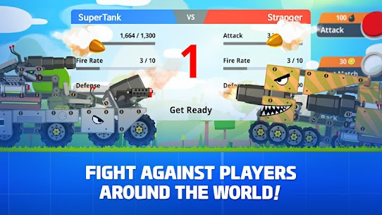 Super Tank Rumble APK MOD HACK (Dinero Infinito) 2