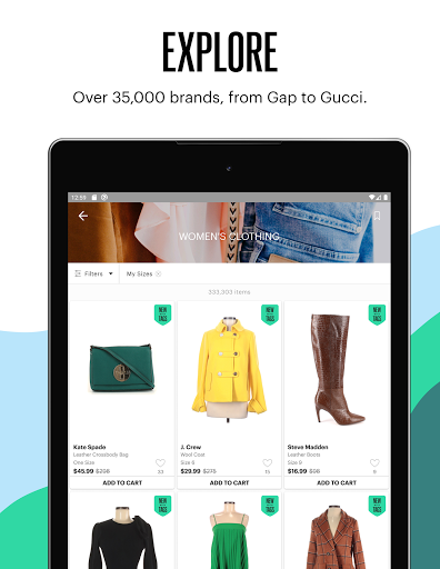 thredUP | Thrift & Sell Womenu2019s & Kidsu2019 Clothing modavailable screenshots 11