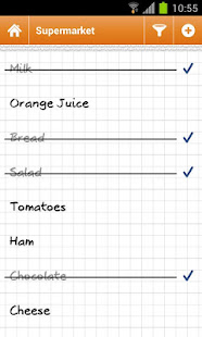 Shopping list Courzeo Lite