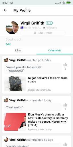 Buzzlite - News Feed for Anything You Care. 1.1.1 Screenshots 6