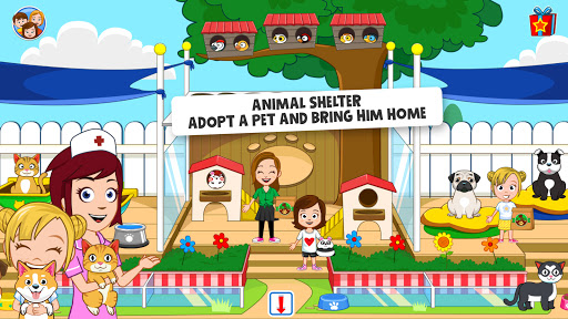 My Town : Pets, Animal game for kids android2mod screenshots 4
