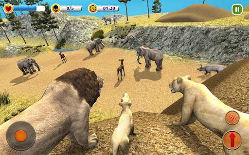 The Lion Simulator - Animal Family Simulator Game 1.3 screenshots 1